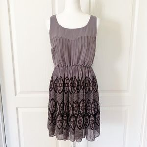 LC Lauren Conrad | Gray Accordion Pleated Dress 8